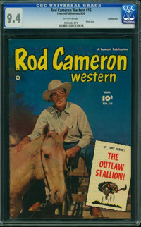 Rod Cameron Western #16 - Crowley Copy (Fawcett Publications, 1952) CGC NM 9.4 Off-white pages