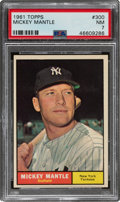 Baseball Cards:Singles (1960-1969), 1961 Topps Mickey Mantle #300 PSA NM 7....