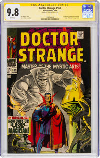 Doctor Strange #169 Signature Series - Signed by Stan Lee (Marvel, 1968) CGC NM/MT 9.8 White pages