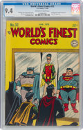 Golden Age (1938-1955):Superhero, World's Finest Comics #32 (DC, 1948) CGC NM 9.4 Off-white to white pages....