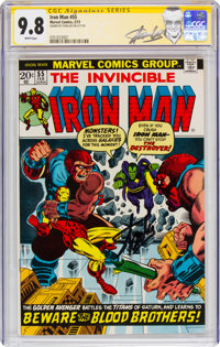 Iron Man #55 Signature Series - Signed by Stan Lee (Marvel, 1973) CGC NM/MT 9.8 White pages