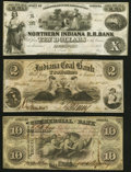 Obsoletes By State:Indiana, Logansport, IN- Northern Indiana R. R. Bank $10 circa 1850s Very Fine-Extremely Fine;. Petersburg, IN- Indiana Coal Ba... (Total: 3 notes)