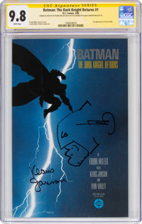 Batman: The Dark Knight Returns #1 Signature Series - Signed and Sketch by Frank Miller (DC, 1986) CGC NM/MT 9.8 White p...