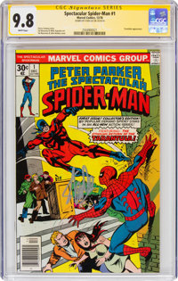 Spectacular Spider-Man #1 Signature Series - Signed by Stan Lee (Marvel, 1976) CGC NM/MT 9.8 White pages