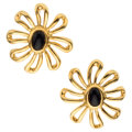 Estate Jewelry:Earrings, Black Onyx, Gold Earrings, Paloma Picasso for Tiffany & Co. . ...