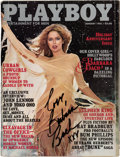 Movie/TV Memorabilia:Autographs and Signed Items, Barbara Bach Signed Playboy from January 1981. ...