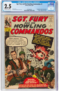 Sgt. Fury and His Howling Commandos #1 (Marvel, 1963) CGC GD+ 2.5 Off-white to white pages