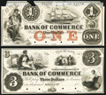 Belfast, ME- Bank of Commerce $1; $3 18__ Proofs About Uncirculated; POCs. ... (Total: 2)