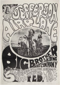 """Music Memorabilia:Posters, FD-1 Jefferson Airplane """"A Tribal Stomp"""" Rare First Family Dog Fillmore Concert Poster.... (Total: 2 Items)"""