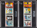 Baseball Cards:Unopened Packs/Display Boxes, 1985 Topps Baseball Rack Pack Pair (2) - Both With Kirby Puckett Front. ... (Total: 2 items)