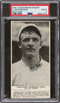 Baseball Cards:Singles (Pre-1930), 1916 D381 Fleischmann Bakery Christy Mathewson (With Tab) PSA Good 2 - Only Two PSA-Graded Examples! ...