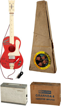 The Beatles Red Jet Electric Guitar in Box Plus Granada Amplifier in Box by Selcol (2) (UK, 1964). ... (Total: 2 Items)