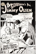 Original Comic Art:Covers, Curt Swan and Neal Adams Superman's Pal, Jimmy Olsen #121 Cover Original Art and Color Guide (DC, 1969).... (Total: 2 Original Art)