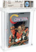 Video Games:Nintendo, Contra - Wata 9.4 A Sealed [Round SOQ, Early Production], NES Konami 1988 USA....