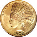 Indian Eagles, 1908-S $10 MS64 NGC....
