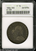 Early Half Dollars: , 1806 50C Knobbed 6, Large Stars Fine 15 ANACS. O-105, R.2....