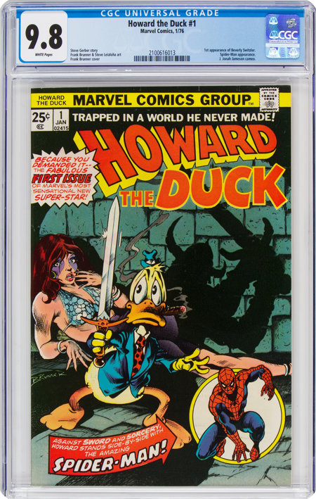 Howard the Duck #1 (Marvel, 1976) CGC NM/MT 9.8 White pages....
