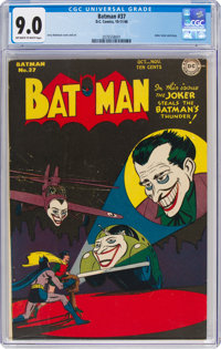 Batman #37 (DC, 1946) CGC VF/NM 9.0 Off-white to white pages