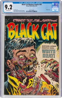 Black Cat Mystery #50 (Harvey, 1954) CGC NM- 9.2 Off-white pages