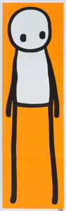 Stik (20th century) Standing Figure (Orange), 2015 Offset lithograph in colors on paper 29-7/8 x