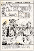 Original Comic Art:Covers, John Severin The Western Kid #4 Cover Original Art (Marvel Comics, 1972)....