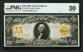 Large Size:Gold Certificates, Fr. 1186 $20 1906 Gold Certificate PMG Very Fine 30.. ...