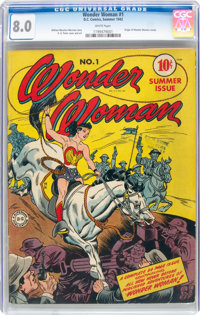 Wonder Woman #1 (DC, 1942) CGC VF 8.0 White pages