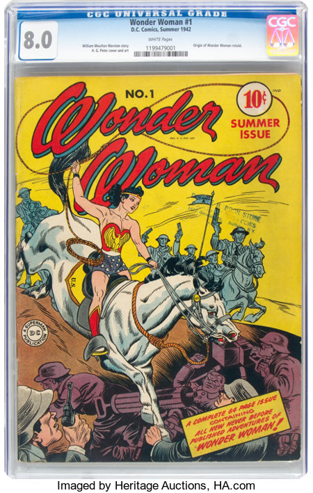 Wonder Woman #1 (DC, 1942) CGC VF 8.0 White pages....