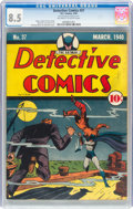 Golden Age (1938-1955):Superhero, Detective Comics #37 (DC, 1940) CGC VF+ 8.5 Off-white to white pages....