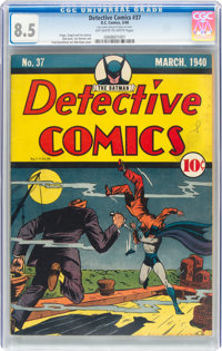 Detective Comics #37 (DC, 1940) CGC VF+ 8.5 Off-white to white pages