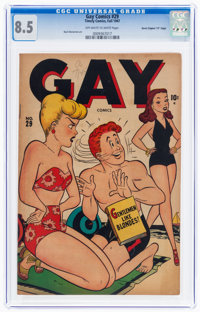 """Gay Comics #29 Davis Crippen (""""D"""" Copy) Pedigree (Timely, 1947) CGC VF+ 8.5 Off-white to white pages"""