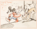 Animation Art:Production Drawing, Mickey and the Lilliputians Storyboard Drawing Original Art (Walt Disney, 1936)....