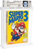 "Video Games:Nintendo, Super Mario Bros. 3 - Wata 9.8 A+ Sealed [Bros. ""Right,"" Later Production], NES Nintendo...."