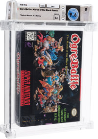 Ogre Battle: March of the Black Queen - Wata 9.6 A+ Sealed, SNES Enix 1995 USA