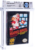 Video Games:Nintendo, Super Mario Bros. - Wata 7.5 A+ Sealed [Oval SOQ R, Later Production], NES Nintendo 1985 USA....