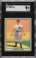 Baseball Cards:Singles (1940-1949), 1941 Play Ball Jimmie Foxx #13 SGC Mint 9 - Pop Two, None Higher. ...