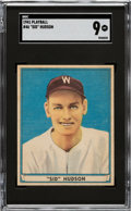 Baseball Cards:Singles (1940-1949), 1941 Play Ball Sid Hudson #46 SGC Mint 9 - Pop One, None Higher! ...