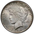 Peace Dollars: , 1927-S $1 MS64+ PCGS. PCGS Population: (1581/92 and 159/12+). NGC Census: (1037/77 and 40/1+). CDN: $750 Whsle. Bid for NGC...