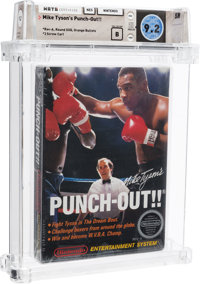 Mike Tyson's Punch-Out!! - Wata 9.2 B Sealed [Rev-A, Round SOQ, Mid-Production], NES Nintendo 1987 USA