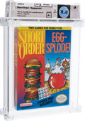 Video Games:Nintendo, Short Order / Eggsplode! - Wata 9.4 A+ Sealed, NES Nintendo 1989 USA....