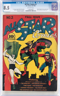 All Star Comics #2 (DC, 1940) CGC VF+ 8.5 Off-white pages