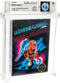 Video Games:Nintendo, Winter Games - Wata 9.4 A+ Sealed [No Rev-A, Early Production], NES Acclaim 1987 USA....