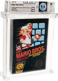 Super Mario Bros. - Wata 9.4 A+ Sealed [Hangtab, 3 Code, Mid-Production], NES Nintendo 1985 USA