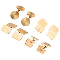 Gold Cuff Links ... (Total: 4 Items)