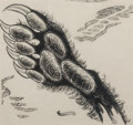 Works on Paper, Lee Brown Coye (American, 1907-1981). The Hand of O'Mecca, Sleep No More interior illustration, 1944. Ink on board. 6 x ...