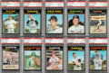 Baseball Cards:Sets, 1971 Topps Baseball PSA Graded Partial Set (206/752) With 1 Extra. ...