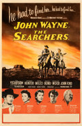 "Movie Posters:Western, The Searchers (Warner Bros., 1956). Very Fine- on Linen. British Double Crown (19.5"" X 30"").. ..."