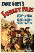 "Movie Posters:Western, Sunset Pass (Paramount, 1933). Very Fine+. One Sheet (27"" X 41"") Style A. . ..."