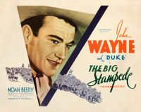 "The Big Stampede (Warner Bros.-Vitagraph, 1932). Fine+ on Paper. Half Sheet (22"" X 28"")"