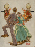 Paintings, Walter Beach Humphrey (American, 1892-1966). Dancing, The Saturday Evening Post cover study. Oil on board. 10-1/2 x 7-1/...